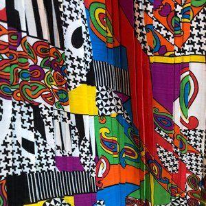 Vintage midi skirt in amazing colorful print